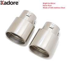 Car Styling Kadore Exhaust Muffler Tip For Toyota Camry 2007-2013 Stainless Steel Tailpipes End Silencer Automobiles Accessories
