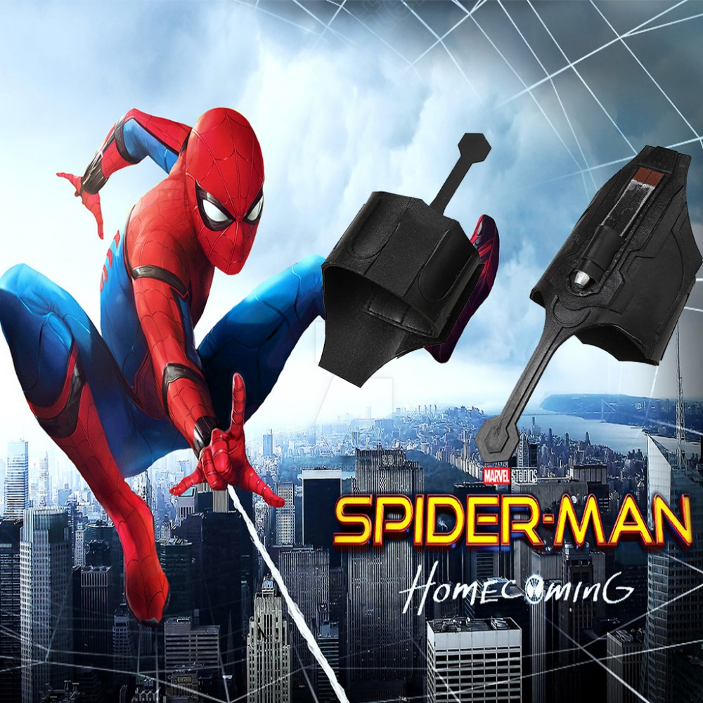 Design; Spider-man Homecoming Cosplay Spiderman Peter Parker Superhero Web Shooter Props Decorate Novel In