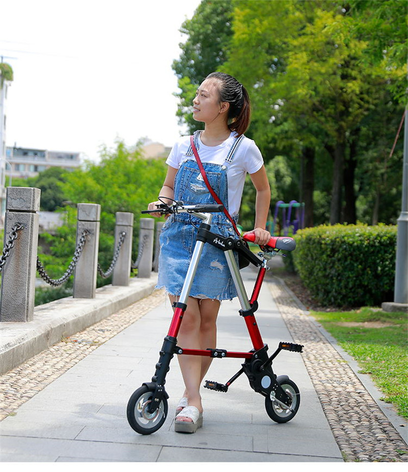 "HTB1V6GcXoT1gK0jSZFrq6ANCXXah Brand New Ultra Light  8""/10"" Mini Folding Bike Bicycle Portable Outdoor Subway Transit Vehicles Foldable Bicicleta"