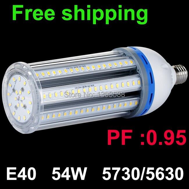 PF 0.95 54W E40 LED Bulb Corn Light spot Lamp 5730 5630smd 360 degree Warm|Cold White ac110v 220v 230v 240v 85v-265v 2pcs/lot pf 0 95 e40 led high bay light lamp 27w 5730 5630smd 360 degree warm cold white ac110v 220v 230v 240v 85v 265v 2pcs lot