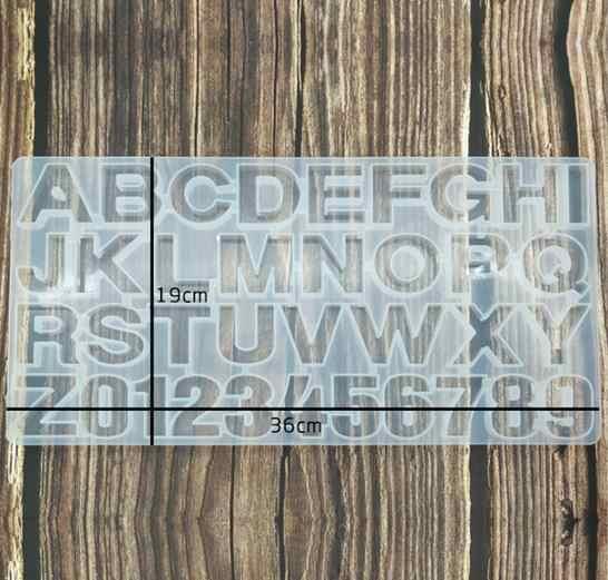 36 אותיות האלפבית מספר בעבודת יד DIY סיליקון עובש שרף ליהוק עובש ערכת תליון DIY תכשיטי ביצוע כלים סט