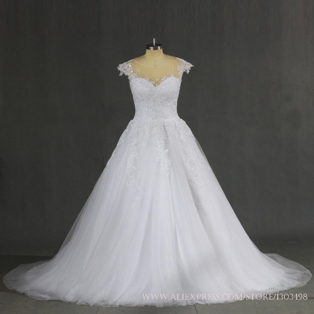 Us 160 65 15 Off Plus Size Trouwjurk 2017 Sexy Baljurk Prinses Bruid Ivoor Kanten Bruidsjurk Vestido De Noiva Vintage Casamento In Plus Size