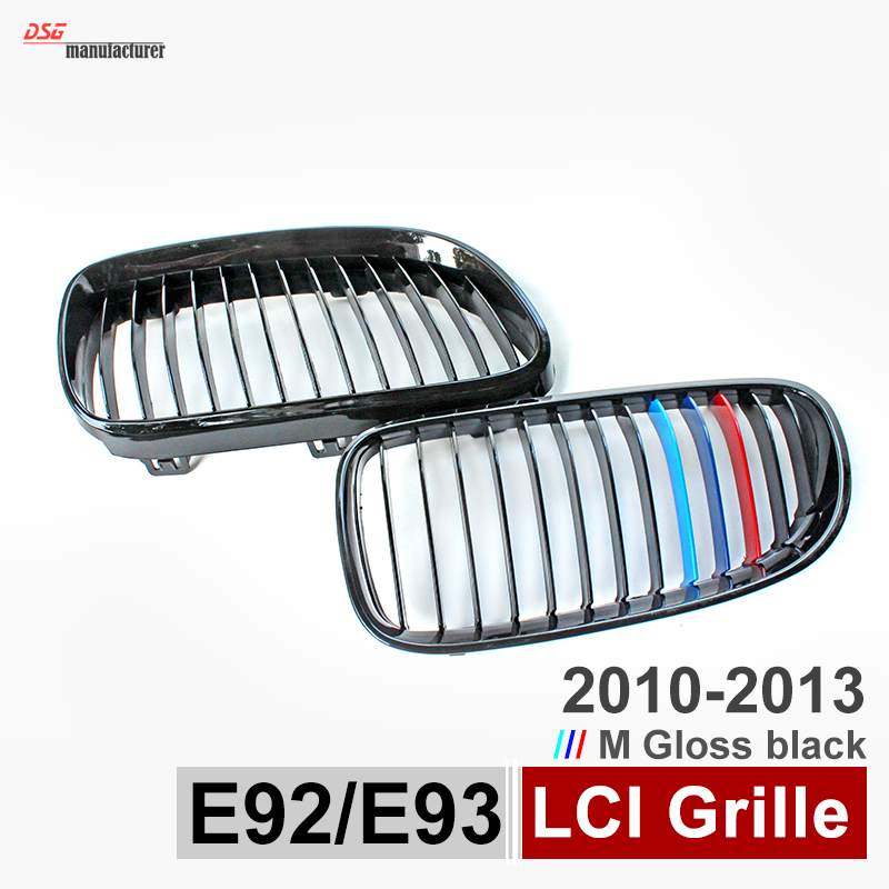 replacement M color front bumper grille abs kidney grill mesh for bmw 3 series 2009 - 2013 2-door e92 coupe e93 convertible 335i replacement bumper grill kidney grille front grid for bmw x5 e70 x6 e71 2007 2014 abs material replacement grid front hood