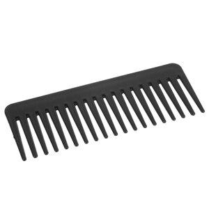 Image 2 - 19 שיניים רחב שן מסרק שחור ABS פלסטיק עמיד בחום גדול רחב שן מסרק שיער סטיילינג כלי