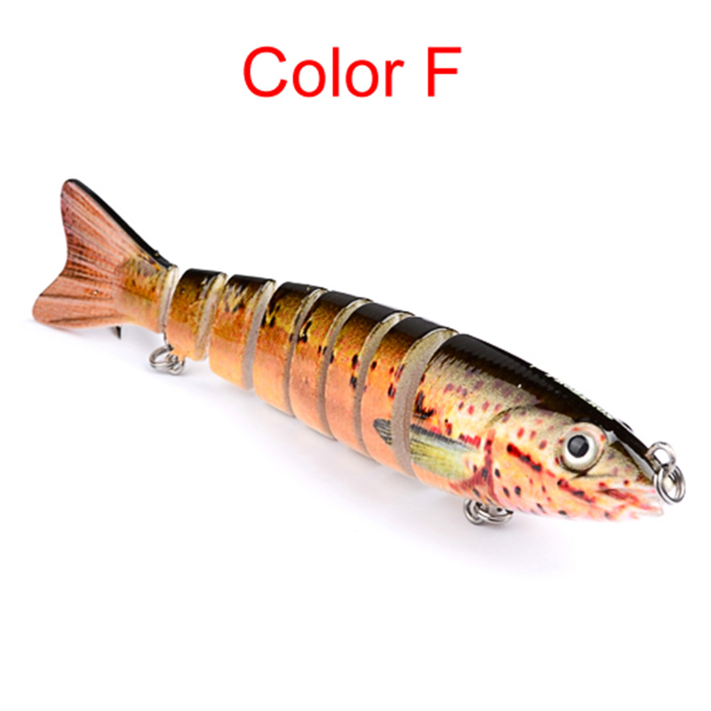 13.cm Swim Lifelike Fishing Minnow Jointed Crank Bait Bass Pesca Tackle Hook Wobblers Fishing Lure 6 Colors 1pcs lifelike 8 5g 9 5cm minow wobblers hard fishing tackle swim bait crank bait bass fishing lures 6 colors fishing tackle