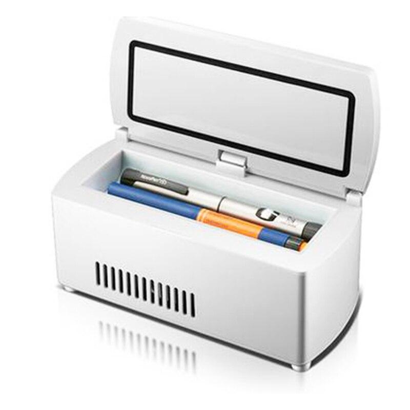 Portable insulin-refrigerator box, mini travel mini refrigerator car smart medicine refrigerator, health care tool mini e14 led refrigerator lights smd5050