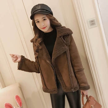 Plus Size 3XL 4XL Lambs Wool Suede Winter Jacket Women Thicken Cotton Female Jacket Chaqueta Mujer Short Warm Jacket Coat C5083