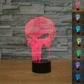 3D Crânio de Incandescência LED Luz Da Noite Sete Cores de Iluminação Da Lâmpada de Mesa de Toque do Dia Das Bruxas