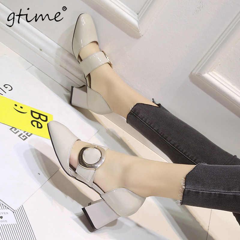 Gtime 2017 новые наборы ног со стороной одной кнопки женская кожа пряжки полые прохладный с женской обуви # ZWB03