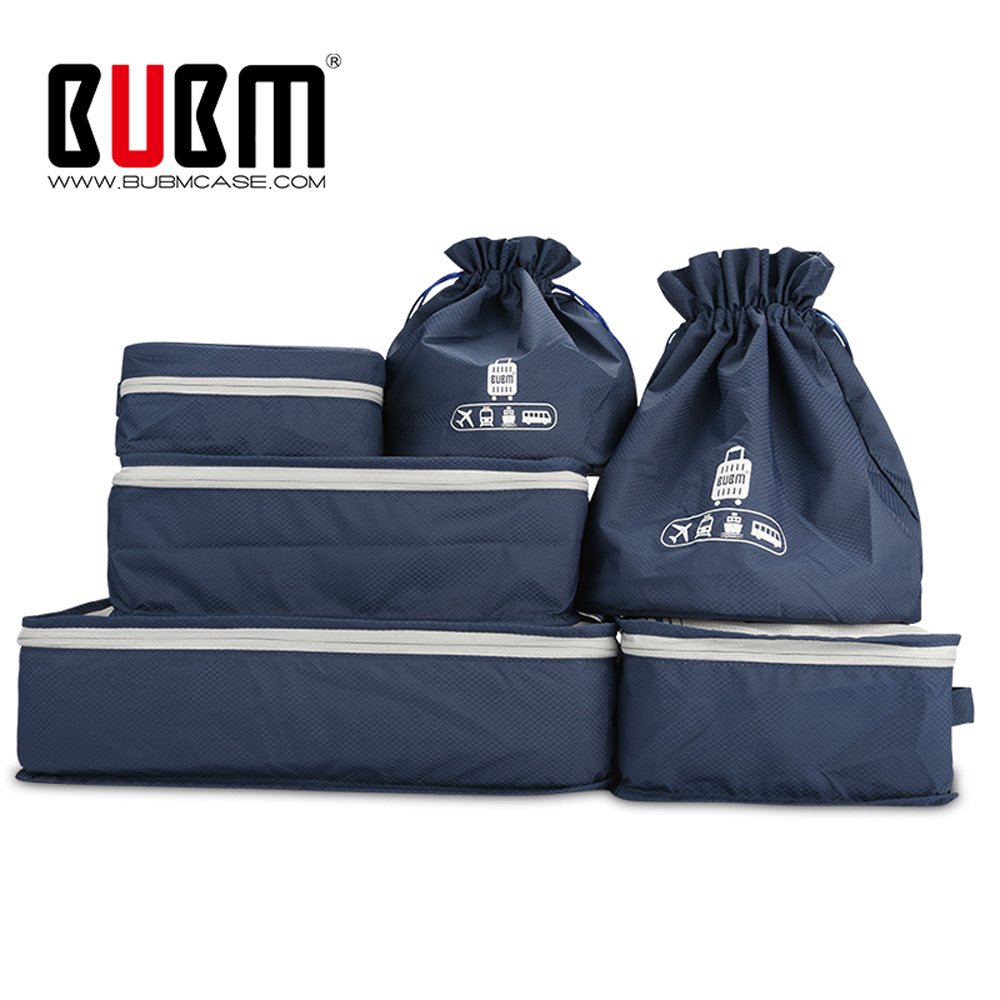 387fe0619ce4 US $20.99 30% OFF|BUBM Waterproof Travel Packing Organizers, Luggage  Packing Cubes, Compression Pouches,6 Pcs Sets with Shoe Bag & Toiletry  Bag-in ...