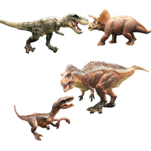 Lensple Movies Jurassic Dinosaur Velociraptor Tyrannosaurus Triceratops Acrocanthosaurus Action Figure Toys jurassic dinosaur simulation pvc model action figure toys apatosaurus giganotosaurus tyrannosaurus rex carnotaurus triceratops