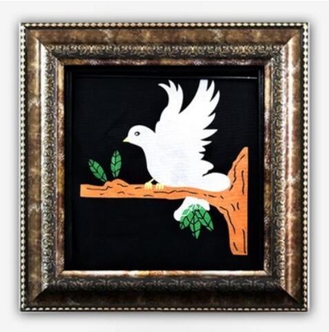 Delux colombe image à la vraie colombe tours de magie comédie scène magie apparaissant colombe cadre Gimmick accessoires pour magiciens professionnels