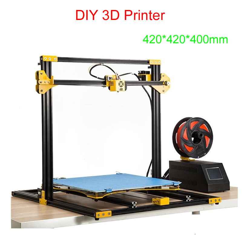 DIY 3D printer LY S7 high precision 3D printing machine support soft glue, wood, PLA,ABS, carbon fiber and other materials
