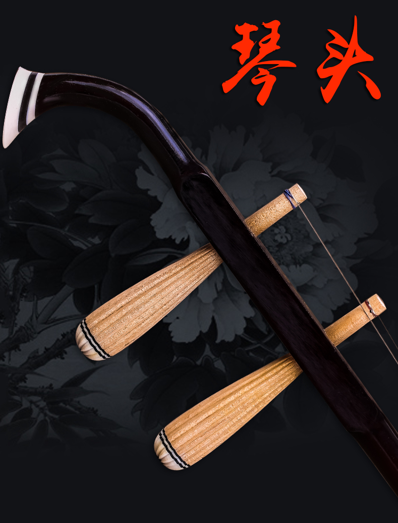 2-Strings Chinese Traditional Erhu Violin Fiddle Urheen Musical Instrument With Rosin/Bow For Beginner Free Shipping-2