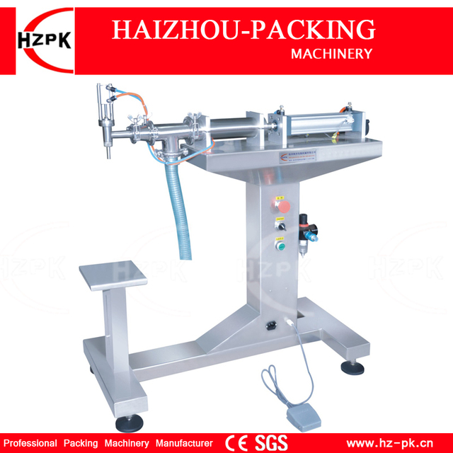 HZPK Floor Type Single Head Water Filling Machine Vertical Steel Machine Bottle Filling Machine Small Packer 50-500ml G1LYD500