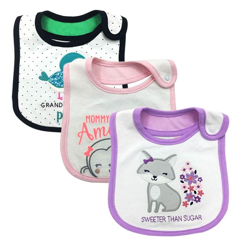 100%Cotton Baby Bibs Waterproof Bandana Baby Girls boys Bibs & Burp Cloths Baby Clothing Product Towel Bandanas Wholesale