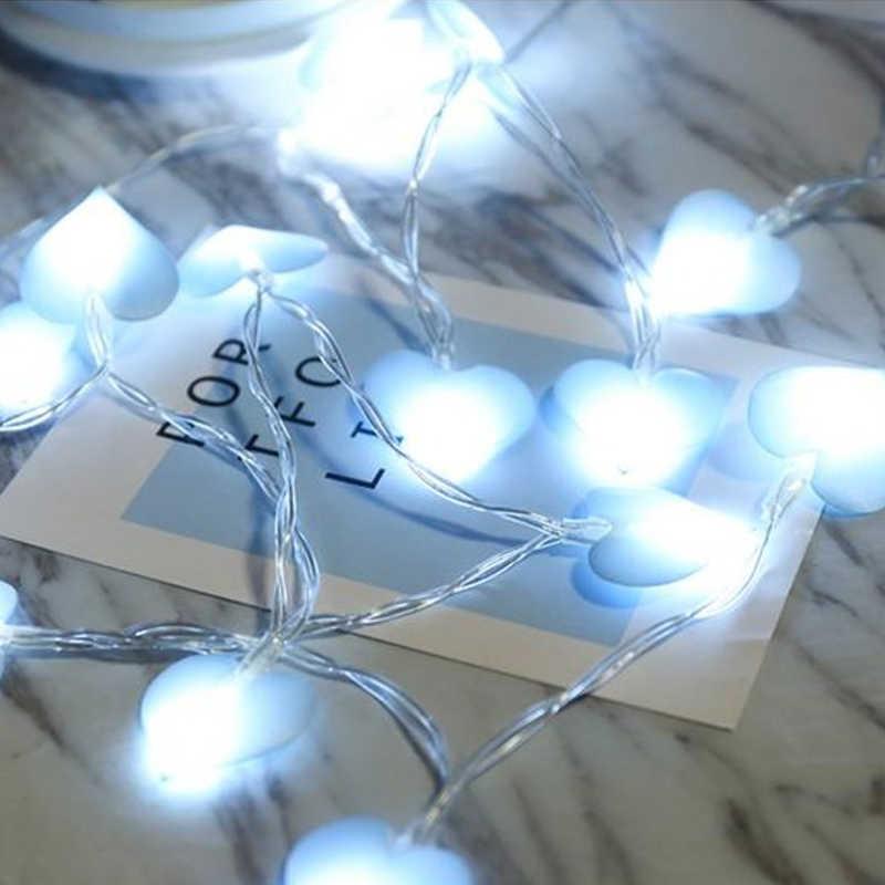 Светодиодный светильник с сердечком, свадебная гирлянда, сказочный светильник, Рождественский светодиодный, сказочный, розовый, для девушек, струнный светильник, для помещений, вечерние, для сада, гирлянда, светильник ing