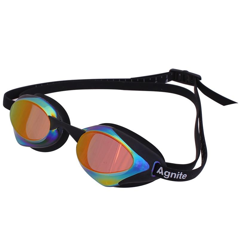 Agnite Arena Swimming Goggles An-Fog UV Swim Eyewea Men Women Coated Waterproof Swimming Glasses(China)