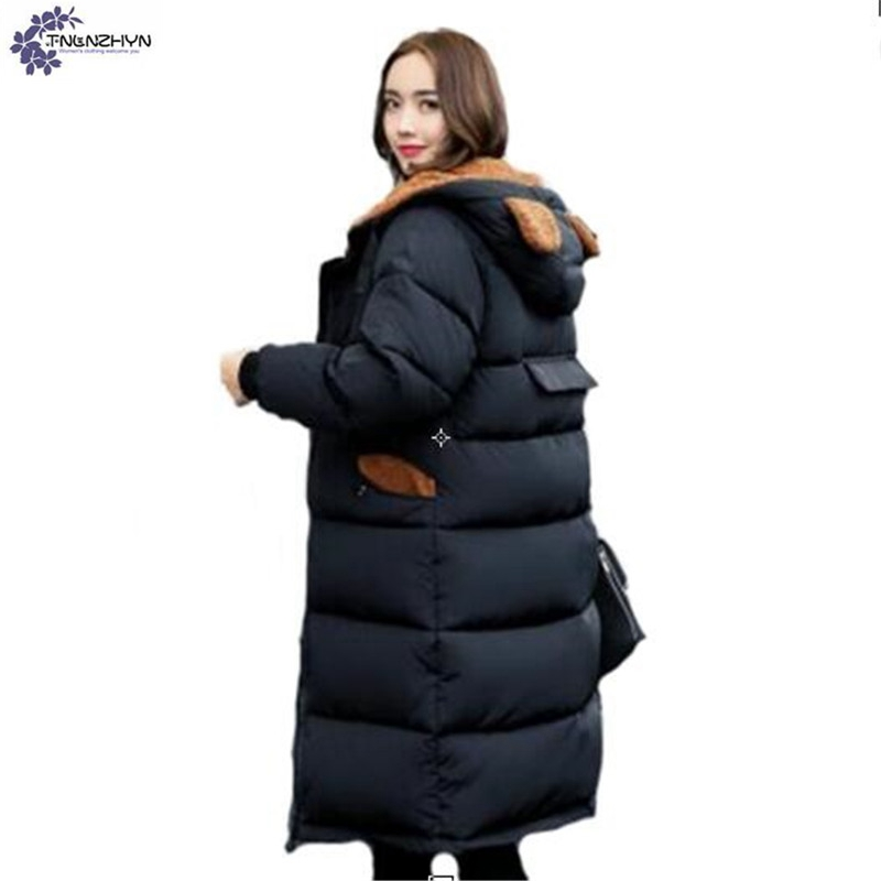 TNLNZHYN Women clothing warm cotton coat new winter fashion Thicken warm Big yards high - end Long female cotton Outerwear QQ308