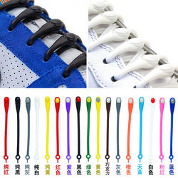 12 шт./компл. Винг новый унисекс для взрослых спортивные бег шнурки без завязок эластичные силиконовые шнурки все спортивная обувь Fit ремень