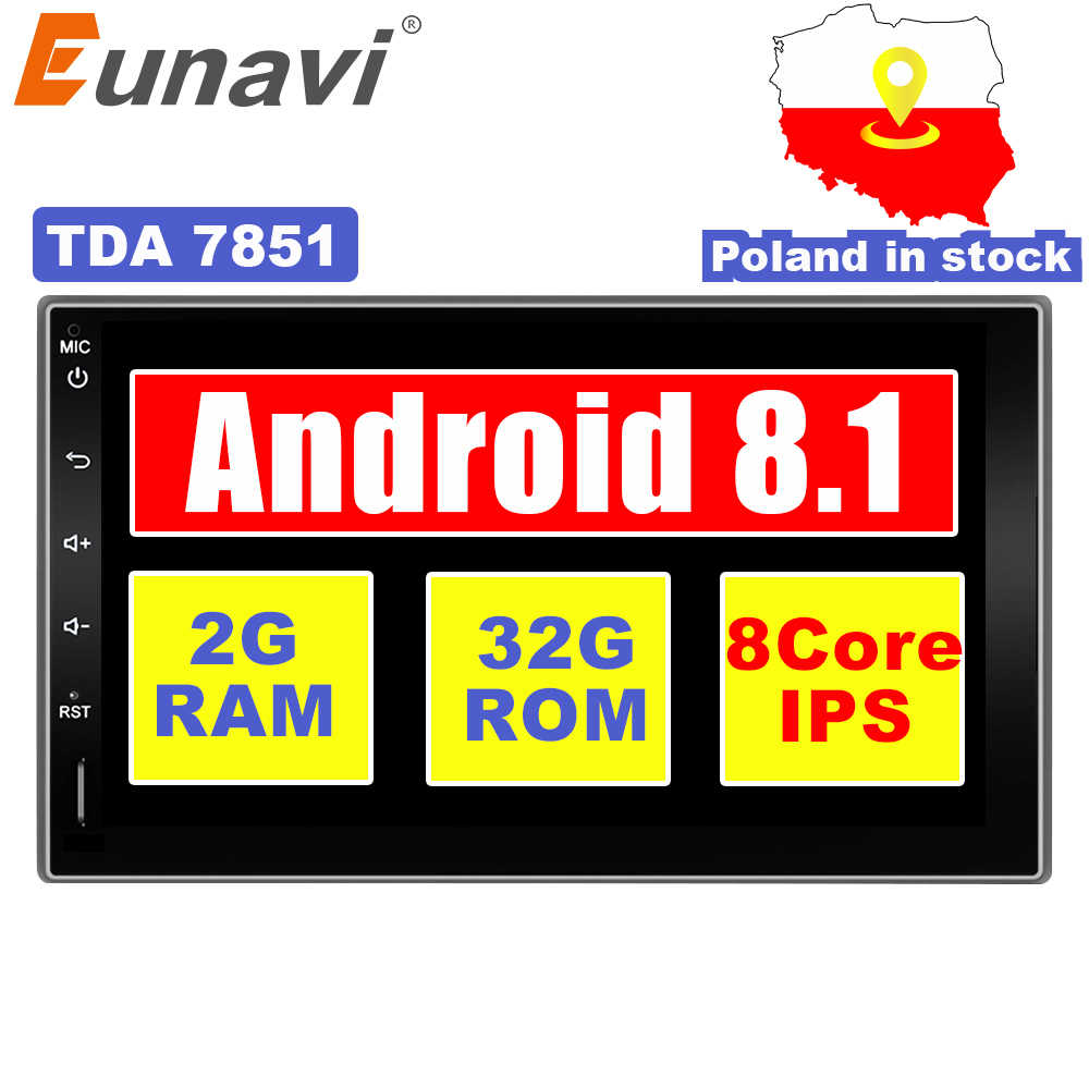 cac7cb022065c Eunavi 2 Din Octa core 7   Android 8.1 2din New Universal Car Radio Double