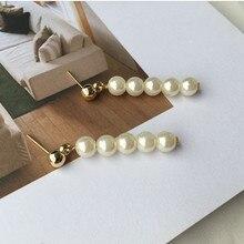 Hand made custom Japan and South Korea wind retro temperament style Hepburn wind beads beads pearl earrings wholesale