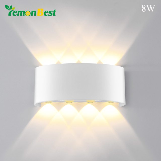 Indoor 2W 4W 6W 8W LED Wall Lamps AC100V/220V Aluminum Decorate Wall Sconce bedroom LED Wall LightIndoor and Outdoor Decoration