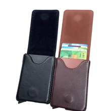 Wholesale 2019 Antitheft Men Fashion Credit Card Holder Blocking Rfid Wallet New Pu Leather Aluminum Metal Purse