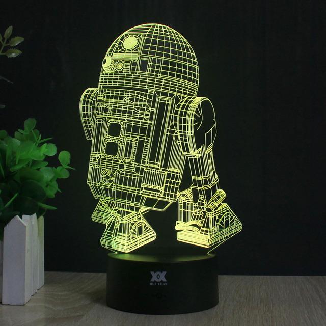Star Wars Death Star Lamp AT-AT BB-8 3D Lamp LED Novelty Night Lights USB Holiday Light Glowing Christmas Gift HUI YUAN Brand