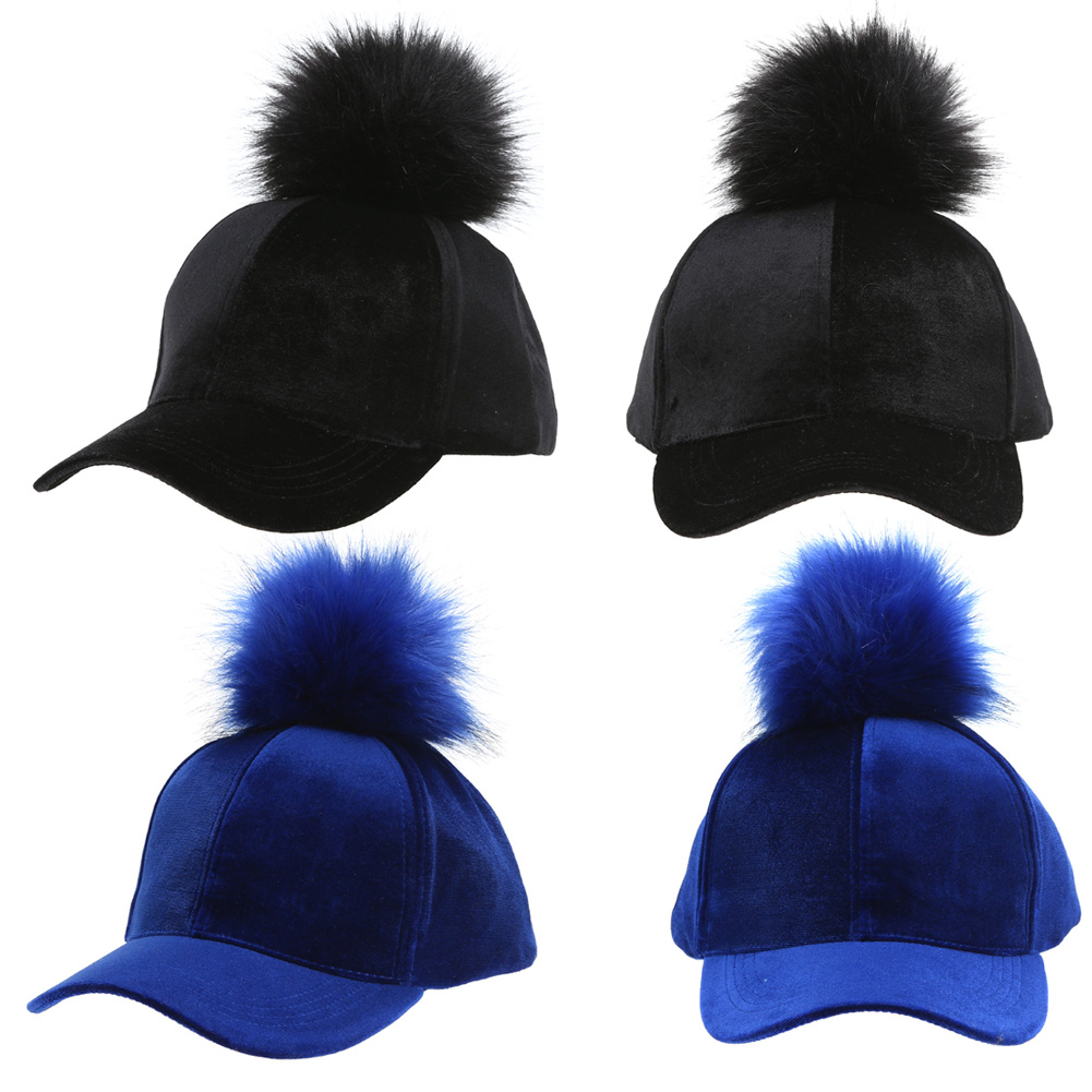 Back To Search Resultsapparel Accessories Women Faux Fox Fur Pompom Baseball Caps Ball Suede Adjustable Pom Pom Cap Hip-hop Hat Fashion New Style Gorros Para El Sol Men's Baseball Caps