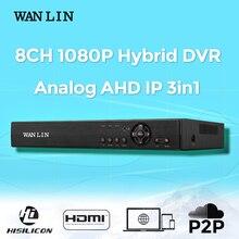 Nueva Llegada 8CH 1080 P AHD-H DVR Registro Híbrido 8CH DVR De 1080 P AHD Cámara de Vigilancia Video Recorder FreeShipping