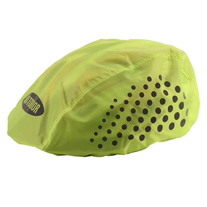 Reflective Bike Helmet Cover High Visibility Waterproof Bicycle Helmet Rain Cover Mtb Road Bicycle Ride Gear
