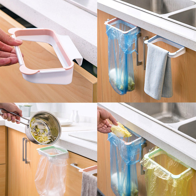 Hanging Kitchen Cabinet Over Door Trash Rack Style Storage Garbage