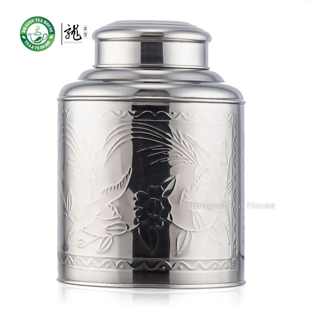 Very Extra Large Stainless Steel Canister Tea Caddy Container With  AU77