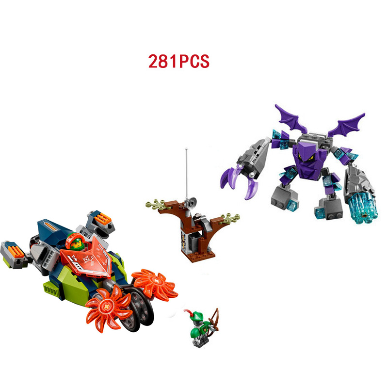 WAZ Compatible legoe 70358 nexoe knights Lepin 14032 256pcs Aaarons Stone Destroyer building blocks bricks toys for children lepin city town city square building blocks sets bricks kids model kids toys for children marvel compatible legoe