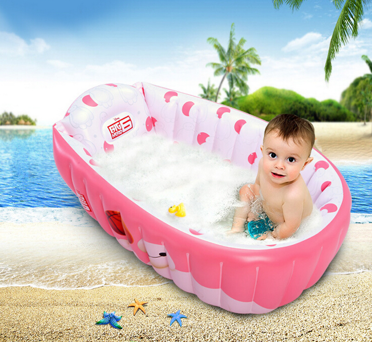 Inflatable baby swimming pool newborn portable bathtub for Baby k piscinas