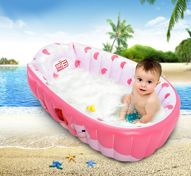 Inflatable Baby Swimming Pool Newborn Portable Bathtub Infant ...