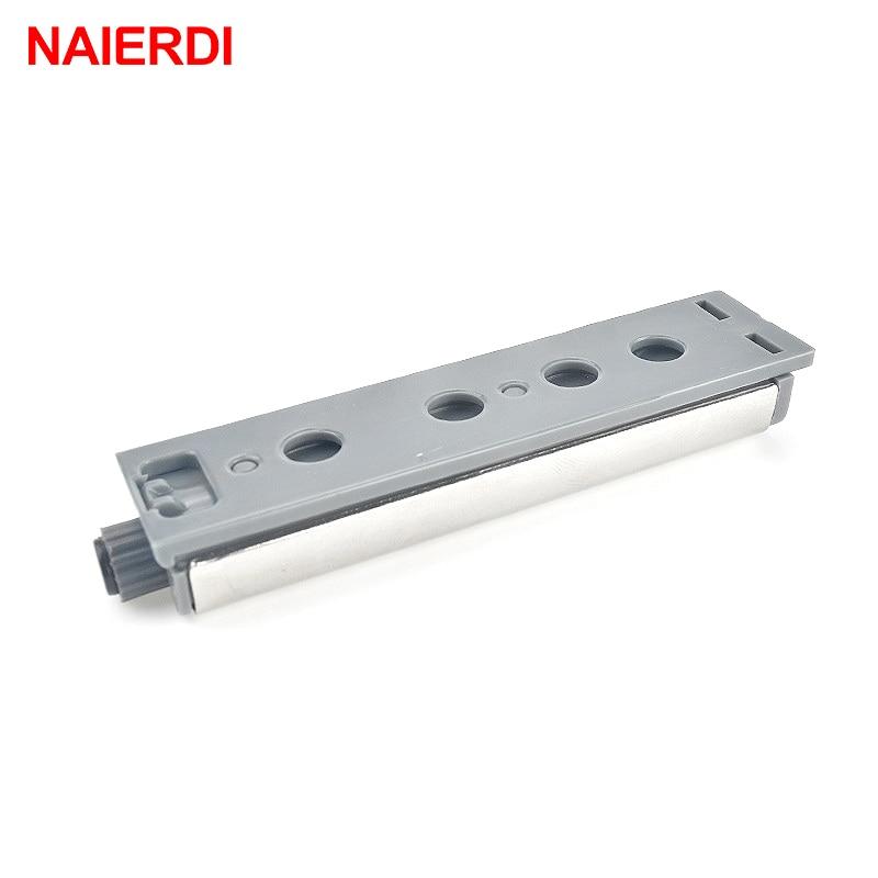 Купить с кэшбэком 10PCS NAIERDI Door Stopper Cabinet Catches Stainless Steel Push to Open Touch Damper Buffer Soft Quiet Closer Furniture Hardware