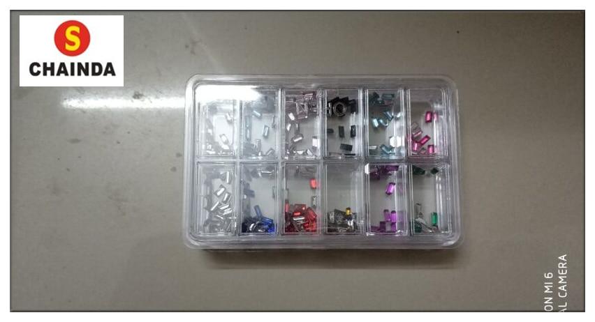 Envío Libre 1 Unidades De Colorido Reloj Cuadrado Diamante Para La Reparación Del Reloj W408