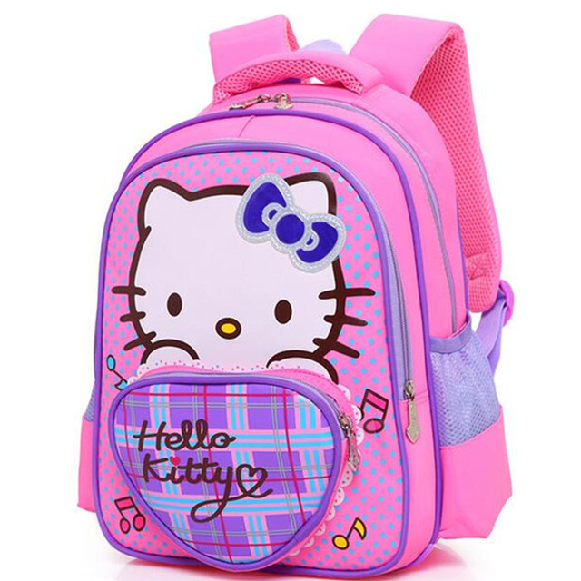 fcc7852a79a7 Girls Hello Kitty Backpack for Children Cartoon Captain America School Bags  for Boys Waterproof Kids Satchel Mochila Infantil