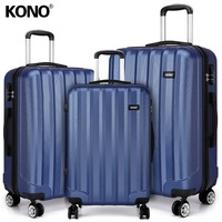 KONO Rolling Luggage Suitcases and Travel Bags Carry On Hand Trolley Case 4 Wheels Spinner Hard Shell ABS 20 24 28 Inch K1773L