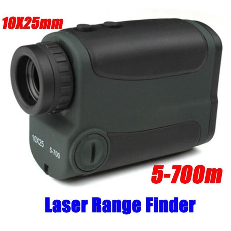 Optics 10X25 700m Laser Rangefinder Scope Binoculars Hunting Golf Laser Range Finder Outdoor Distance Meter Measure