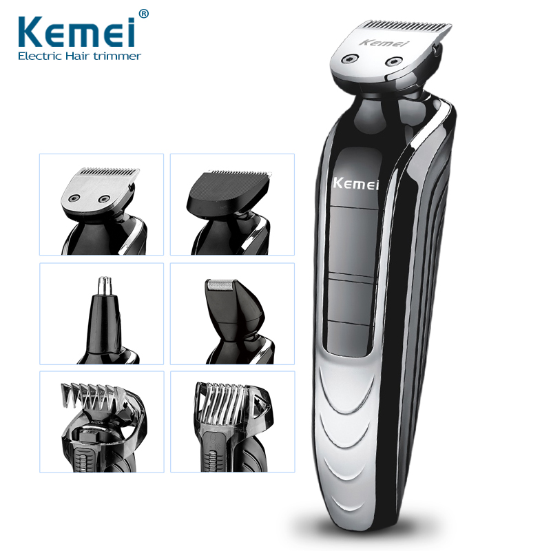 KEMEI New Cutter Electric Hair Clipper Rechargeable Hair Trimmer Shaver Razor Cordless Adjustable Clipper Free Shipping kairui fashion full waterproof rechargeable hair clipper trimmer shaver razor cordless adjustable clipper haircut for men baby