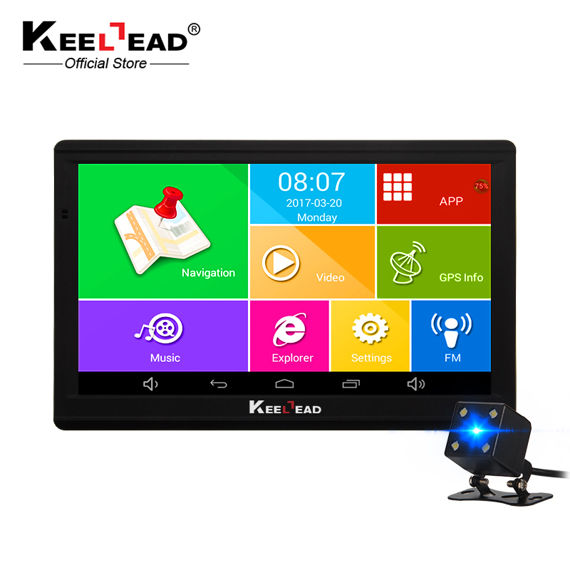 Keelead Android Автомобильный GPS навигатор 7 дюймов WI-FI GPS навигатор Tablet GPS навигатор WI-FI AVIN Bluetooth Камера HD 800x480 512 М /8 ГБ