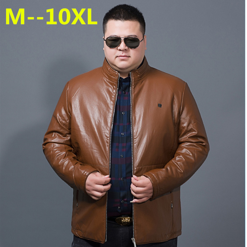 10XL 8XL 6XL Men Leather Jacket Genuine Real Sheep Goat skin Brand Black Male Bomber Motorcycle Biker Man's Coat Autumn Spring