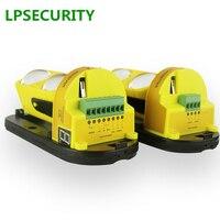 Lpsecurity 30に100メートルledインジケータir 2ビーム検出器屋外irセンサーデュアルビーム赤外線バリア検出器のgsm警報システム