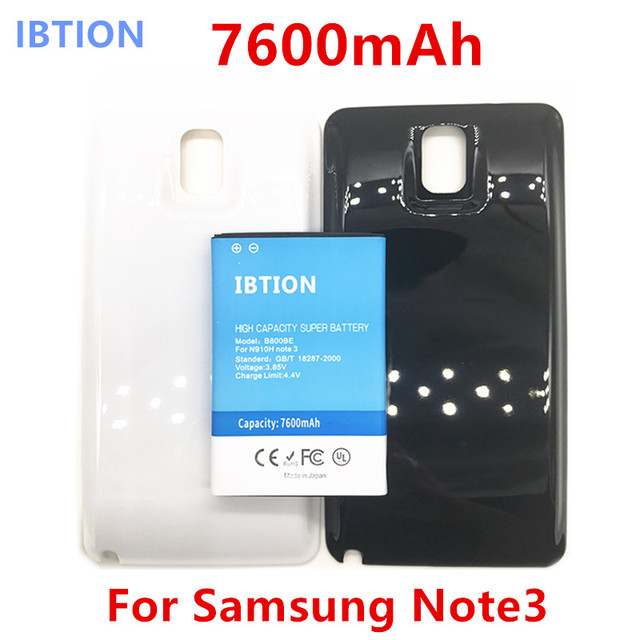 new products 34bed a6d8e US $13.8 |IBTION 7600mAh Note 3 Business Extend Battery B800BE For Samsung  Galaxy Note3N9000 N9005 + Back Cover Door Black White color-in Mobile Phone  ...