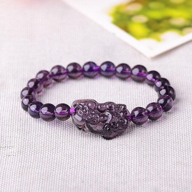 Купить фиолетовый кристалл черный recruit pixiu браслет для и одной
