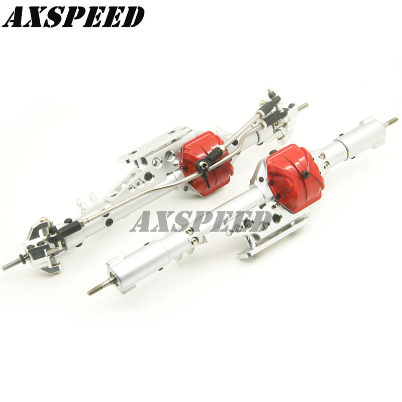 Здесь продается  1/10 Axial Wraith Aluminum Alloy Front + Rear Axles Set for RC Crawler Silver/Black  Игрушки и Хобби