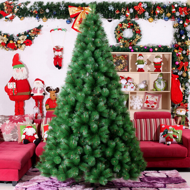 30m 40m large christmas tree full of pine needles encryption christmas decorations ornaments home - Large Christmas Ornaments